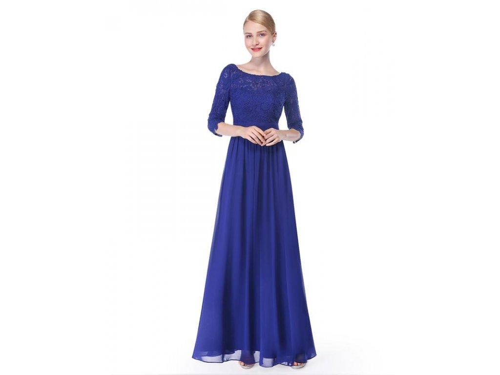 Společenské šaty Ever Pretty 8412 modré (Velikost 3XL / 48 / 16 / 20)