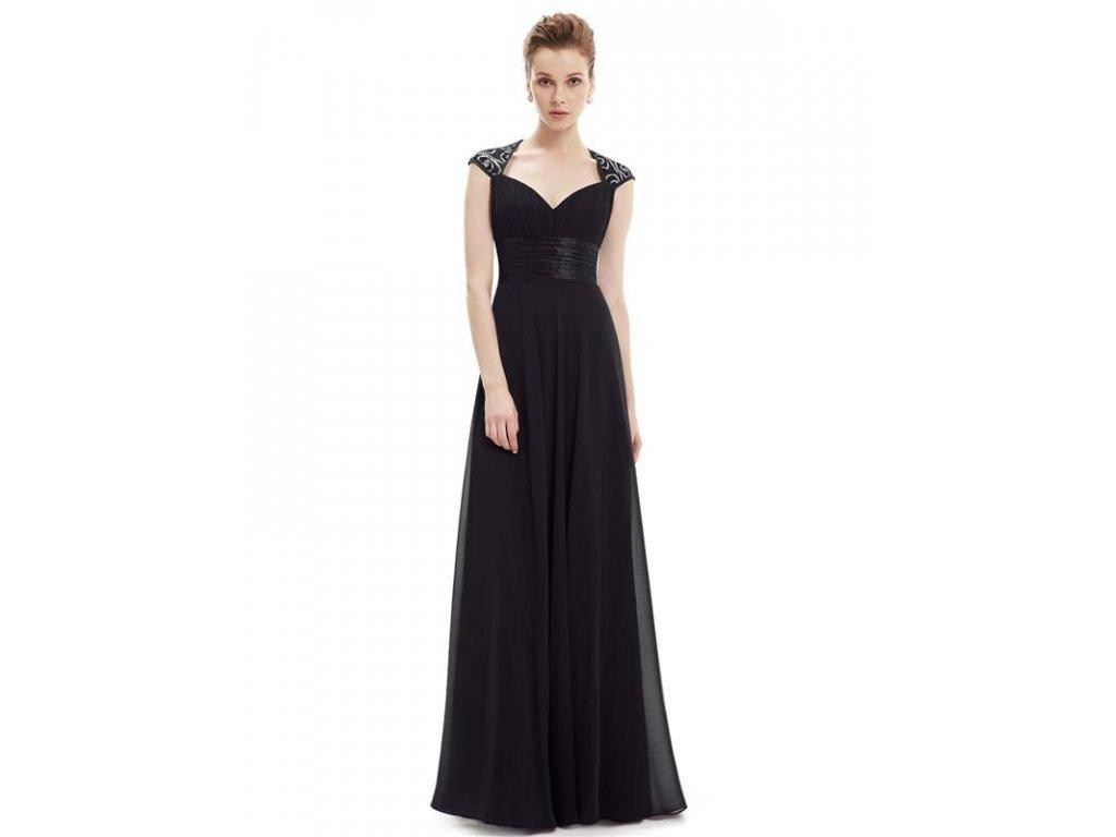 Ever Pretty plesové šaty s flitry černé 9672 (Velikost 3XL / 48 / 16 / 20)