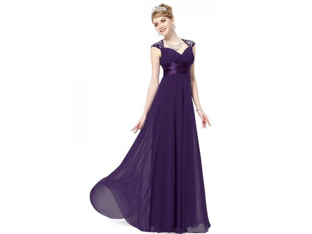 011e737bd Ever Pretty plesové šaty s flitry fialové 9672 (Velikost 3XL / 48 / 16 /