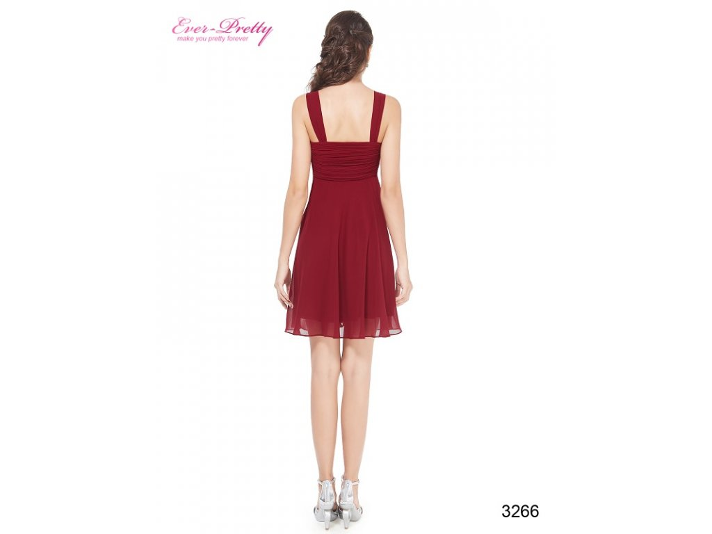 ... Ever Pretty šifonové šaty krátké bordo 3266 (Velikost 3XL   48   16    20 ... 3d3e70946d