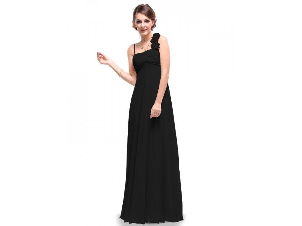 Ever Pretty plesové šaty černé elegantní 9766 (Velikost 3XL / 48 / 16 / 20)
