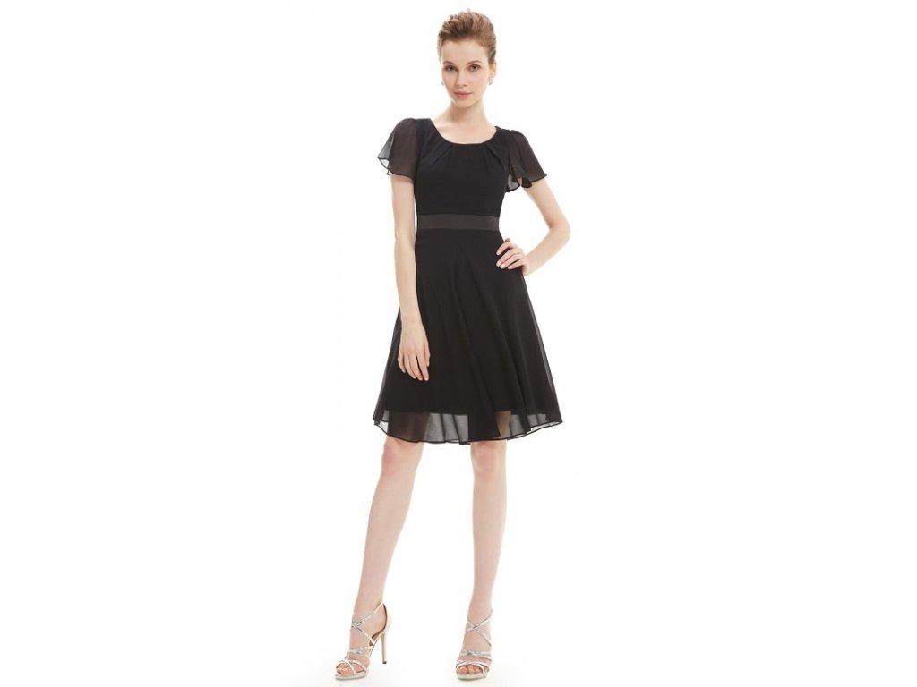 Šaty do tanečních či plesy černé Ever Pretty 3990 (Velikost 3XL / 48 / 16 / 20)
