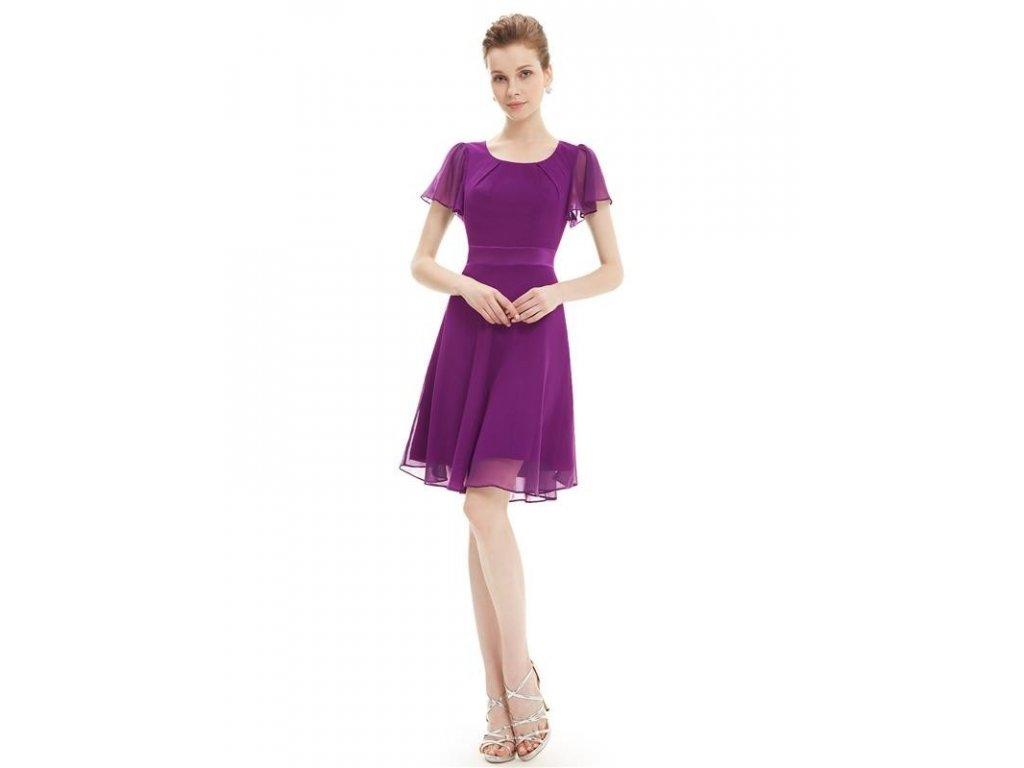 Šaty do tanečních či plesy fialové Ever Pretty 3990 (Velikost 3XL / 48 / 16 / 20)