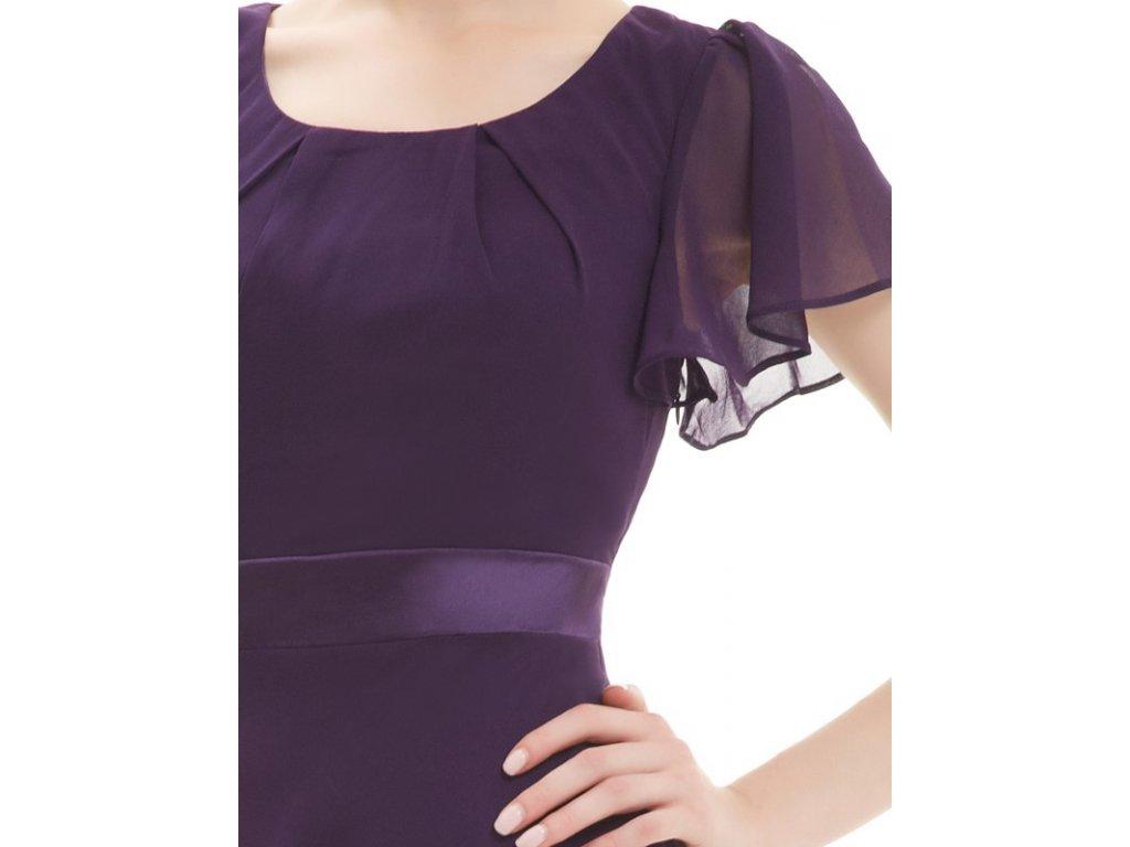 ... Ever Pretty šaty krátké tmavě fialové 3990 (Velikost 3XL   48   16   20  ... b7ef119c8af