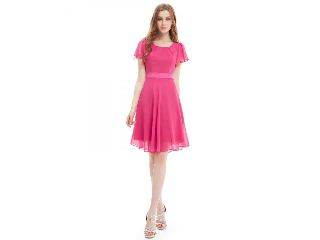 Šaty do tanečních či plesy růžové Ever Pretty 3990 (Velikost 3XL / 48 / 16 / 20)