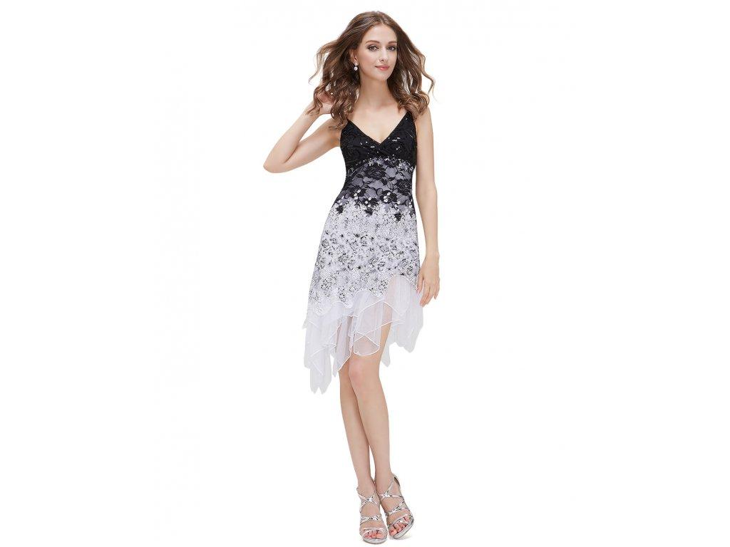 Ever Pretty šaty bílo - černé krajkové koktejlky (Velikost 3XL   48   16   50fb3b83e7a