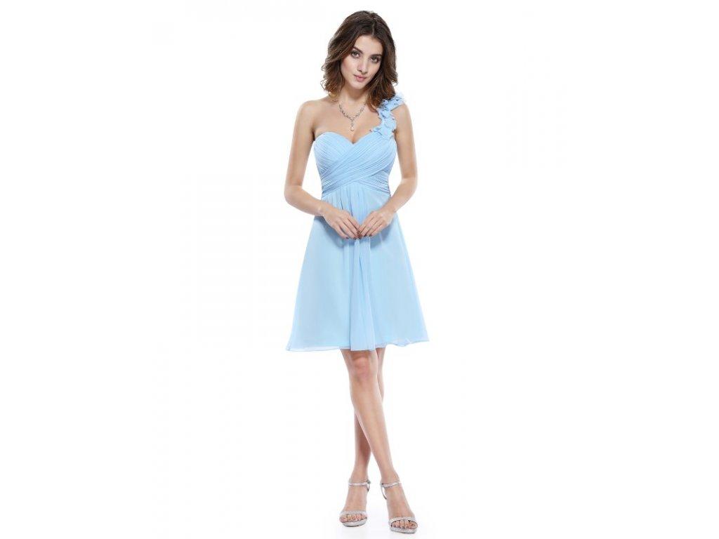 Ever Pretty šifonové šaty krátké modré 3535 (Velikost 3XL / 48 / 16 / 20)