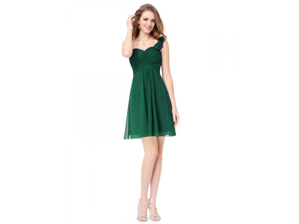 Ever Pretty šifonové šaty krátké zelené 3535 (Velikost 3XL   48   16   20 8acb7ce7c4