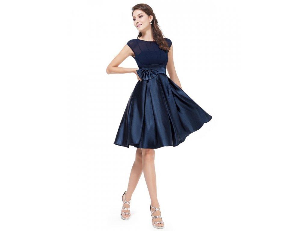Ever Pretty šaty do tanečních, plesové Navy modrá 6113 (Velikost 3XL / 48 / 16 / 20)