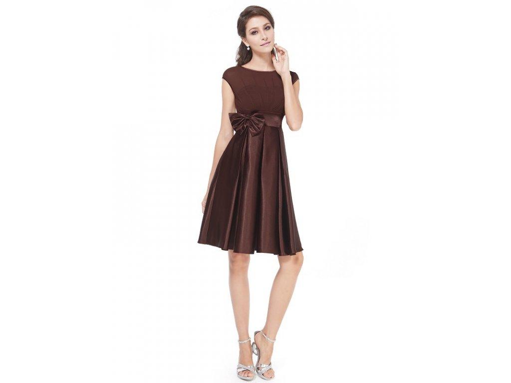 Ever Pretty šaty do tanečních, plesové hnědé 6113 (Velikost 3XL / 48 / 16 / 20)