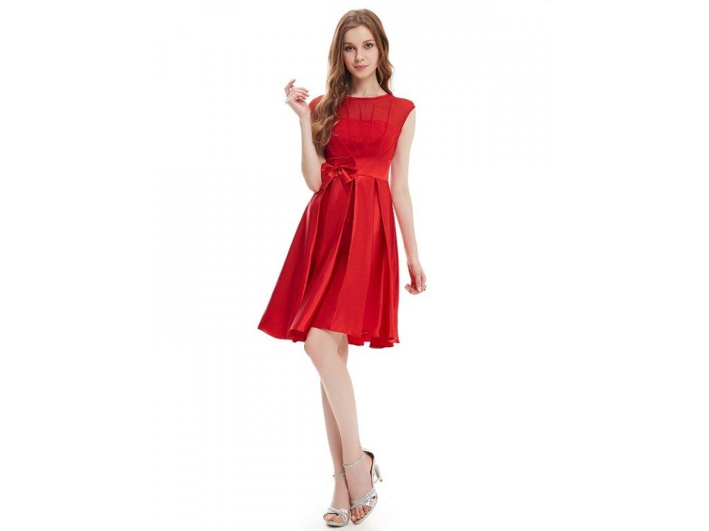 Ever Pretty šaty do tanečních, plesové červené 6113 (Velikost 3XL / 48 / 16 / 20)