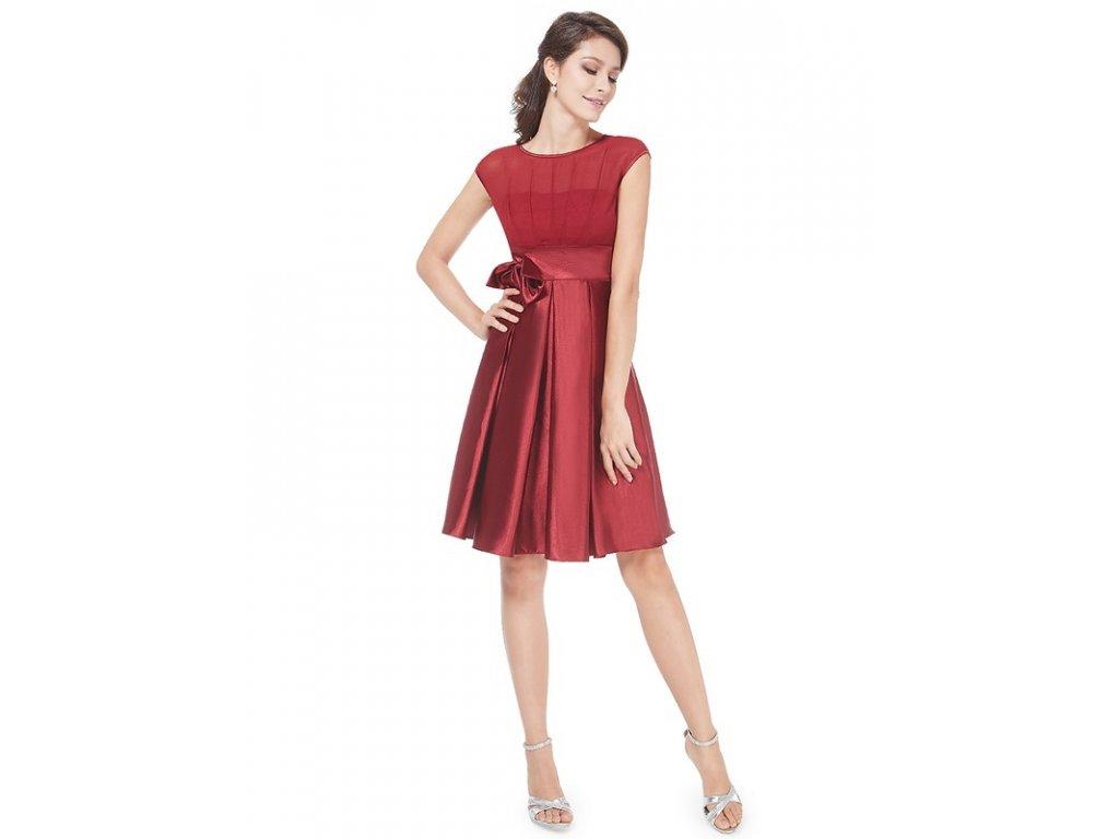 Ever Pretty šaty do tanečních, plesové bordo 6113 (Velikost 3XL / 48 / 16 / 20)