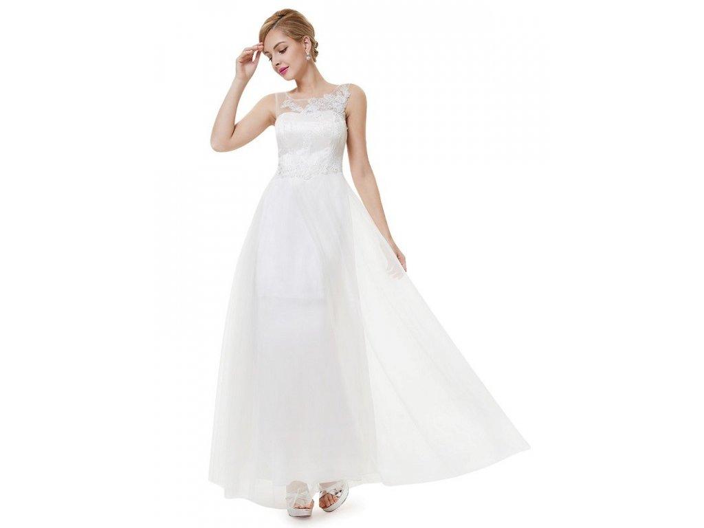 Svatebni Saty Dlouhe Ivory Ever Pretty S Krajkou 8447 Trendy