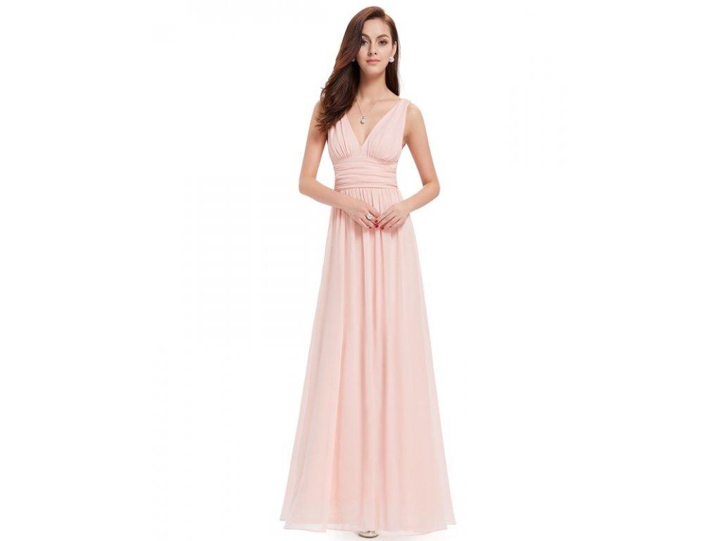 Ever Pretty plesové šaty růžové 9016 (Velikost 3XL / 48 / 16 / 20)