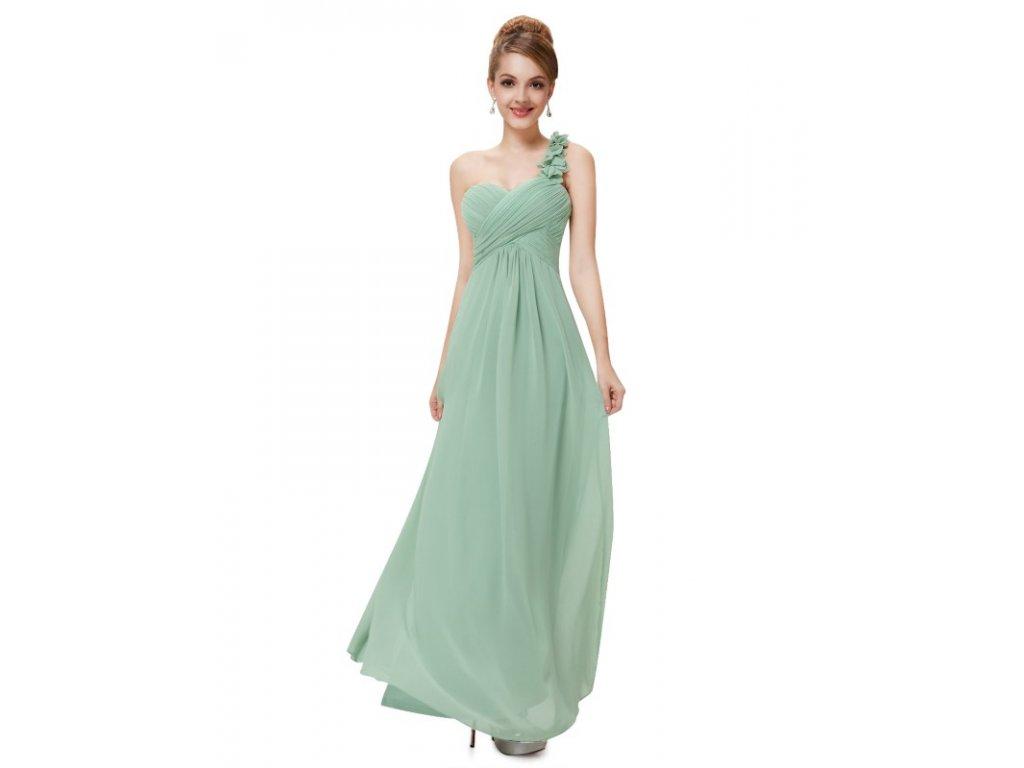 Ever Pretty plesové šaty mentolové 9768 (Velikost 3XL / 48 / 16 / 20)