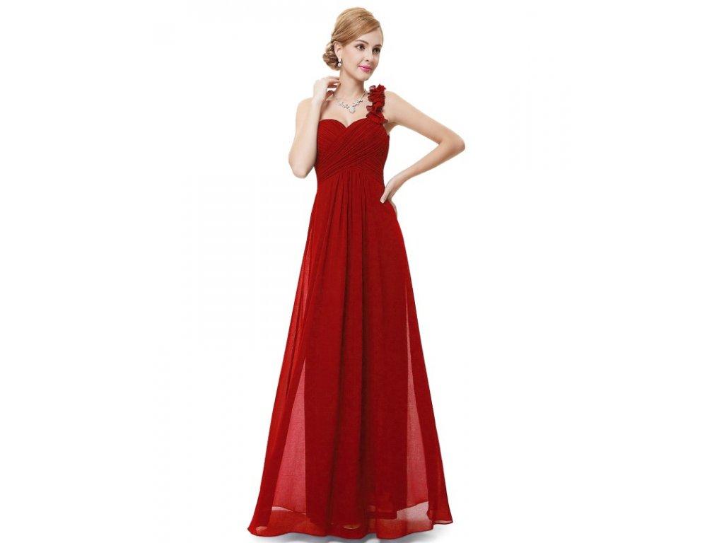 Ever Pretty plesové šaty společenské červené 9768 VE (Velikost 3XL / 48 / 16 / 20)