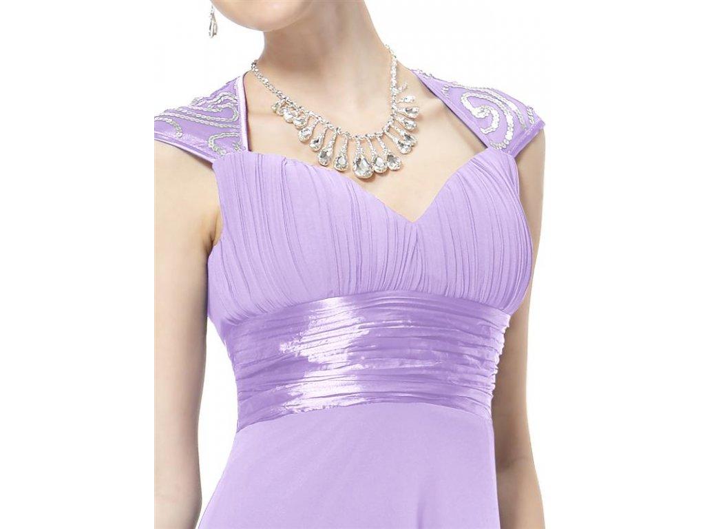 5052b11b3db7 ... Ever Pretty plesové šaty s flitry sv. fialová 9672 (Velikost 3XL   48  ...