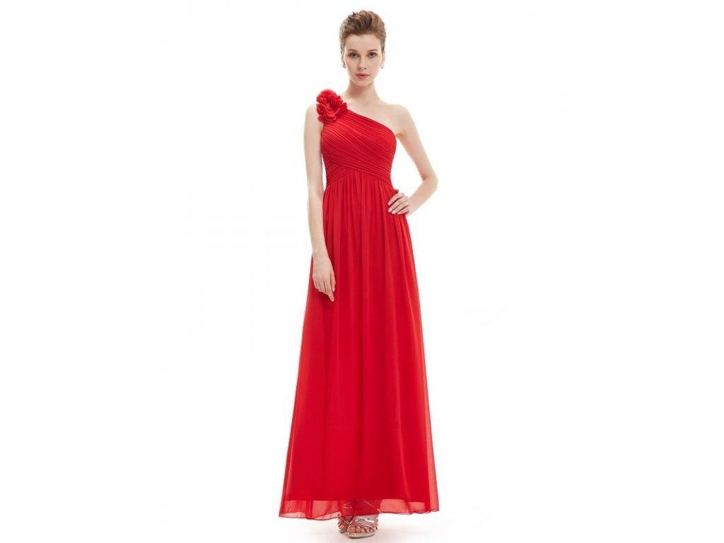 Ever Pretty plesové šaty červené 8237 RD (Velikost 3XL / 48 / 16 / 20)