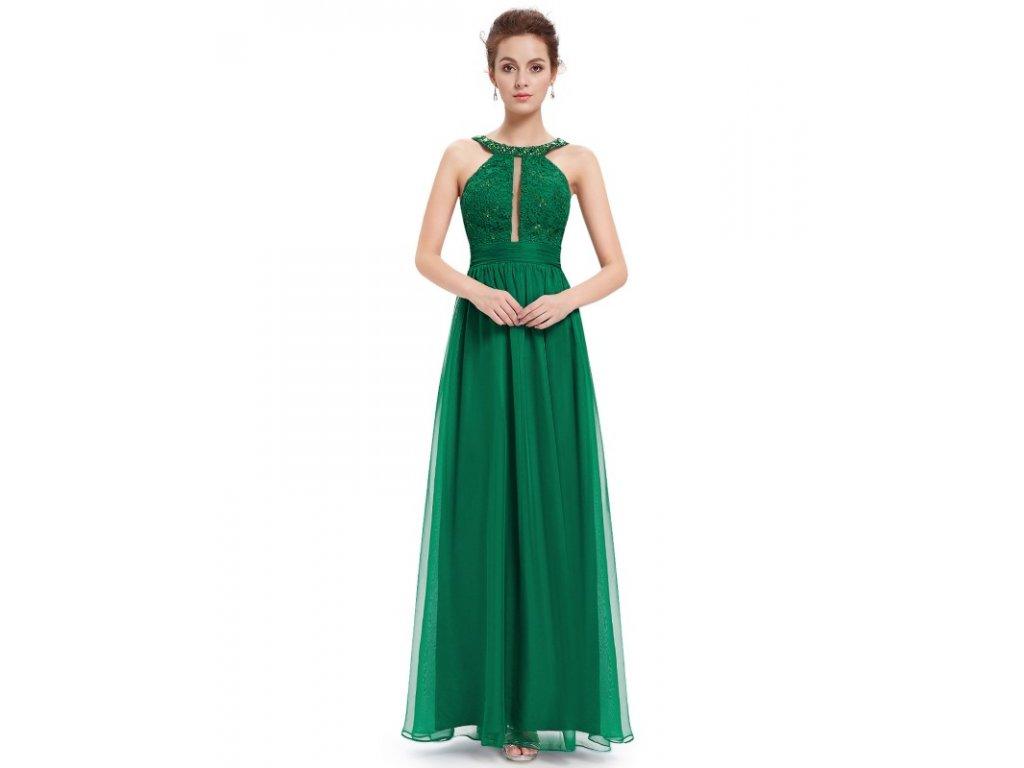 Ever Pretty šaty dlouhé zelené 8572 (Velikost 3XL / 48 / 16 / 20)