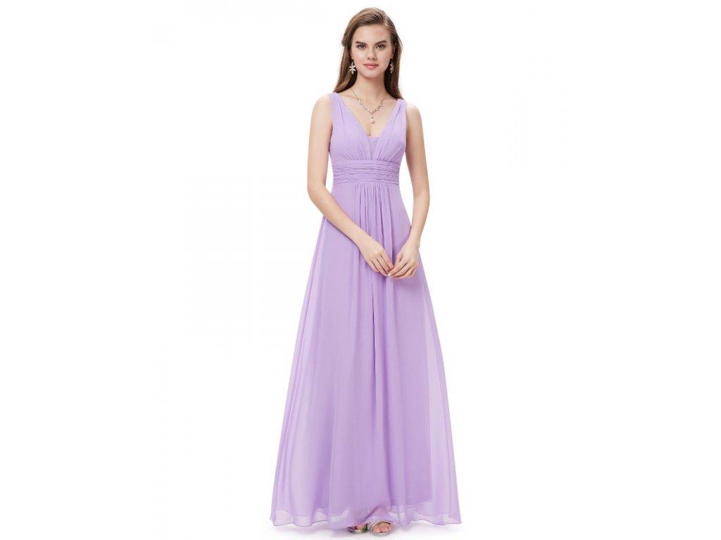 Plesové šaty elegantní fialové Ever Pretty 8110 (Velikost 3XL   48   16   20 8653622527