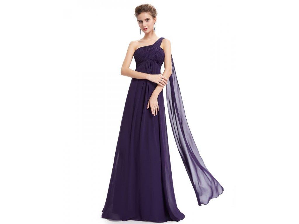 Ever Pretty plesové šaty fialové 9816 PP (Velikost 3XL / 48 / 16 / 20)