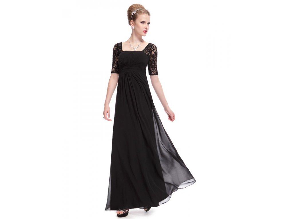 53b4ca5b720 Společenské šaty černé dlouhé Ever Pretty 8038 (Velikost 3XL   48   16   20