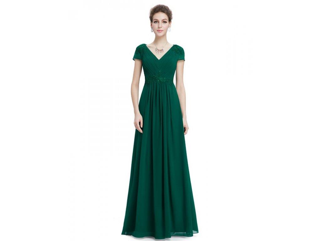 Ever Pretty plesové šaty s výšivkou zelené 8467 (Velikost 3XL   48   16   6411a3f7242