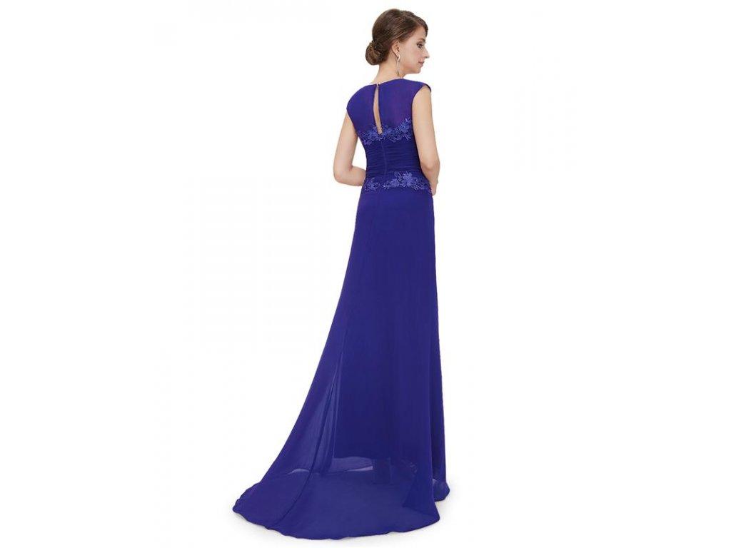 ... Plesové šaty s krajkou modré - romantické Ever Pretty 8369 (Velikost 3XL    48   8007935579
