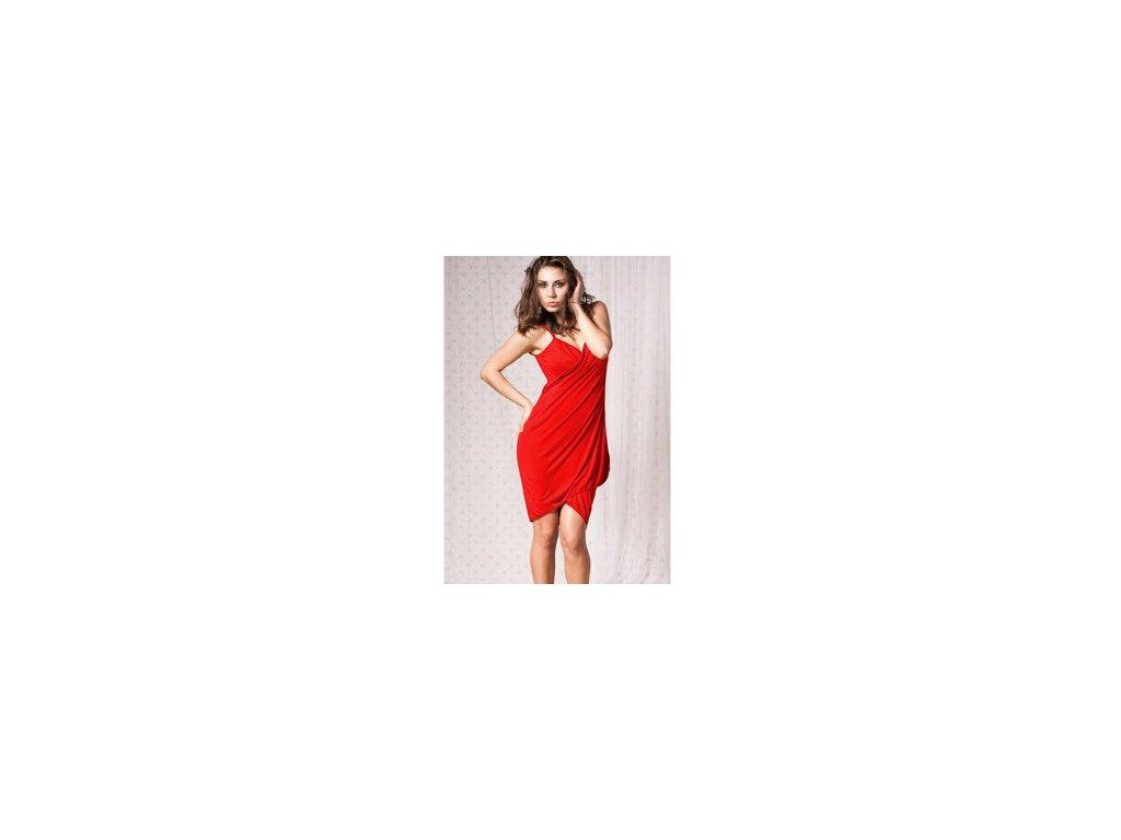 A Plážové zavinovací šaty jednobarevné červené - trendy-obleceni.cz 76a14b823d