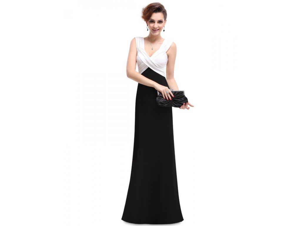 Ever Pretty plesové šaty s bílým splývavé 9051