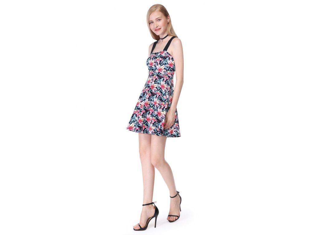 Letní krátké květované šaty na ramínka 5646 - trendy-obleceni.cz bbe51b80de