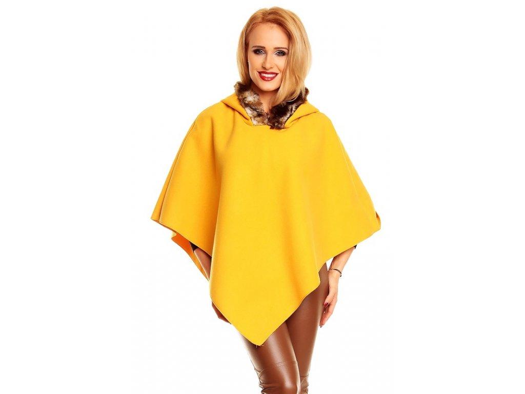 A Poncho, pončo žluté s kapucí