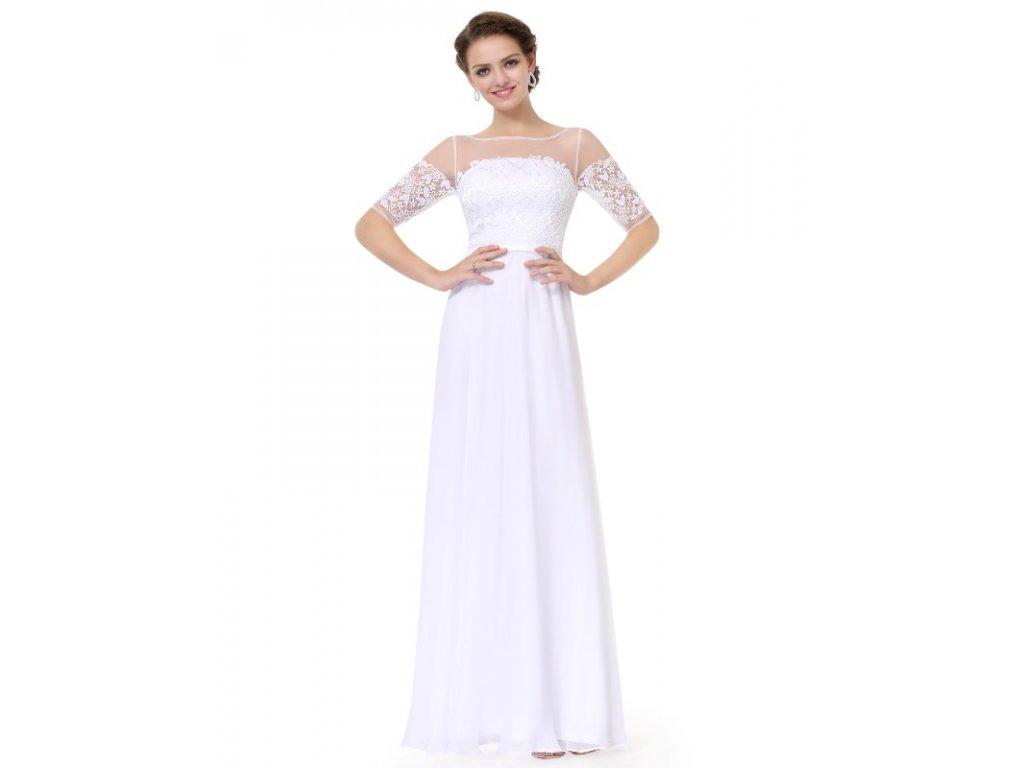 Bílé šaty Ever Pretty plesové šaty dlouhé 8459