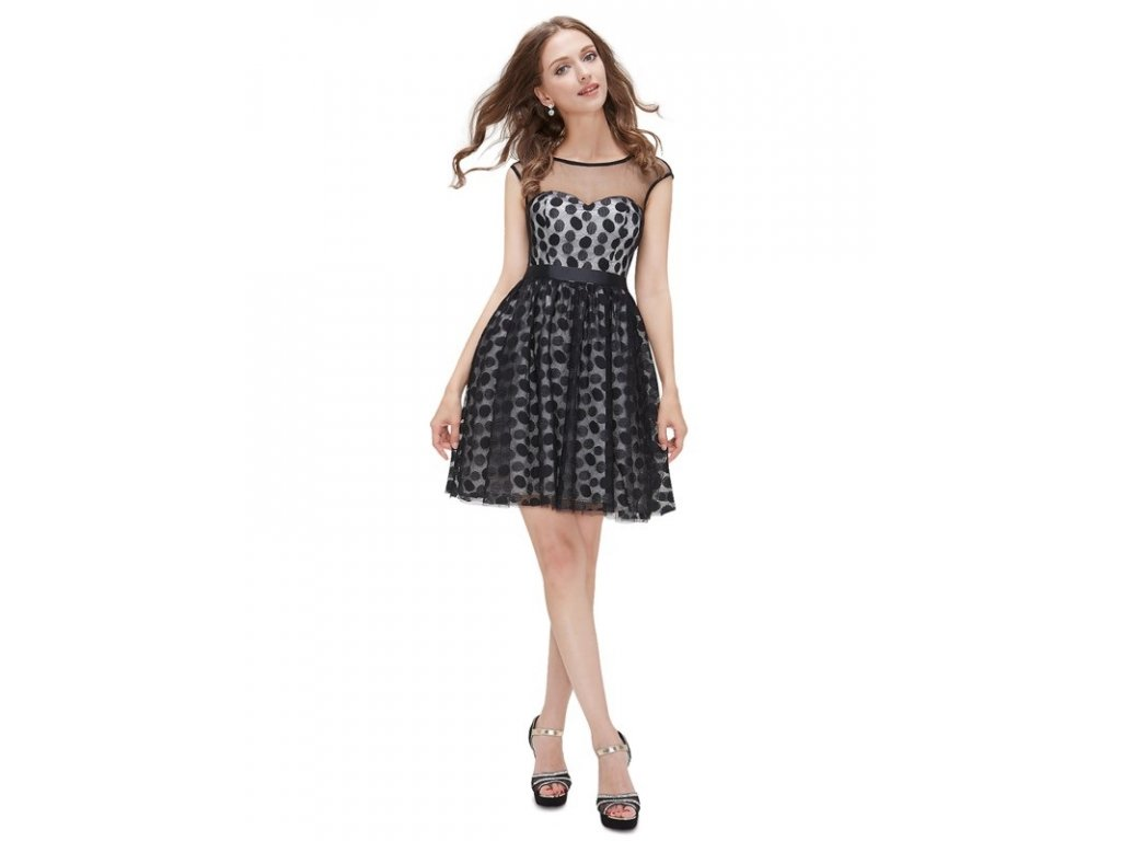 Dámské šaty s puntíky POLKA DOT Ever Pretty 5073
