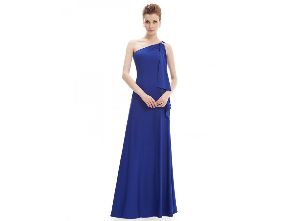 Ever Pretty plesové šaty safírově modré splývavé 9463