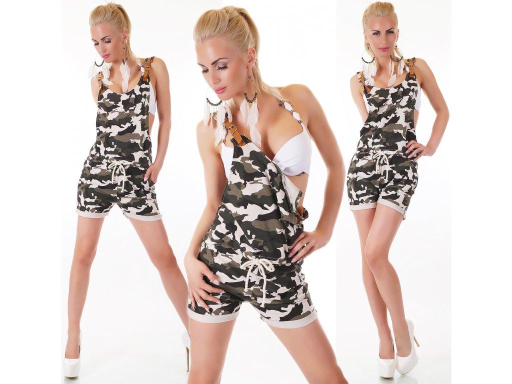 Sexy ARMY laclové krátké kalhoty ST122 - trendy-obleceni.cz 86baff079e
