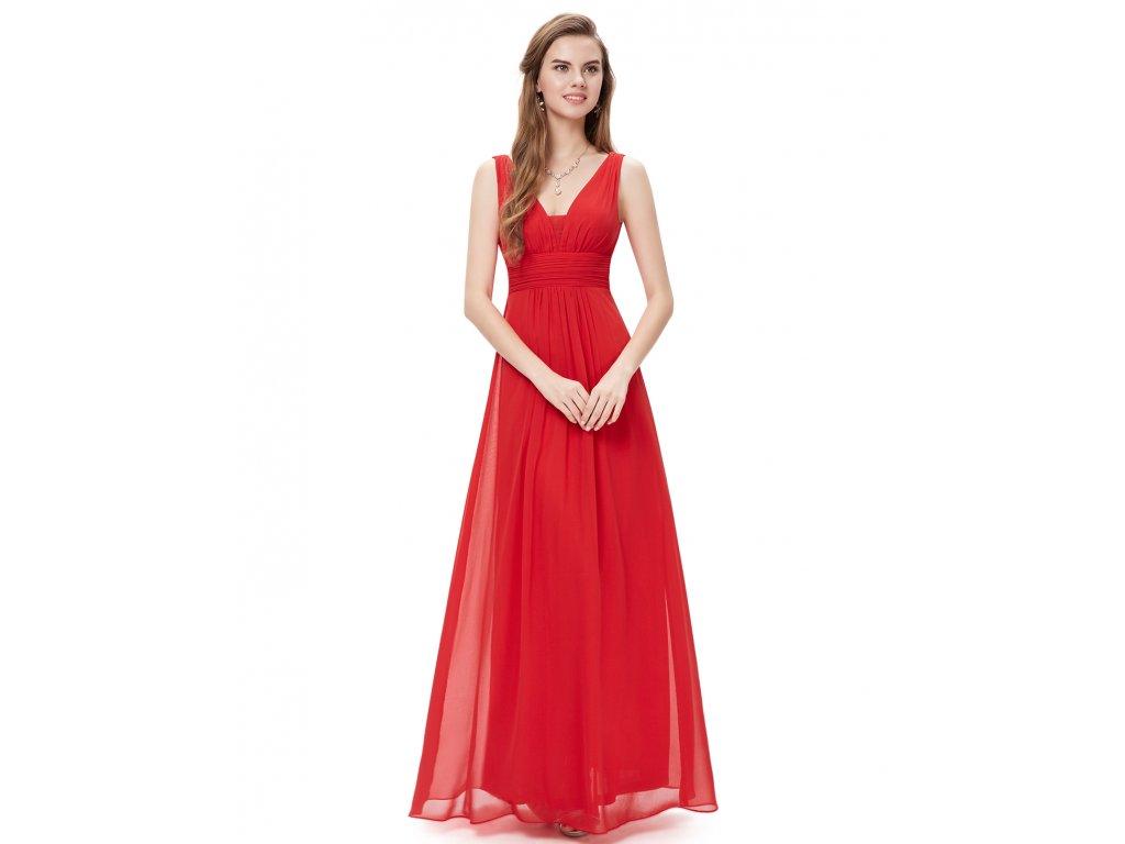 dcf2afaaa599 Plesové šaty elegantní červené Ever Pretty 8110 - trendy-obleceni.cz