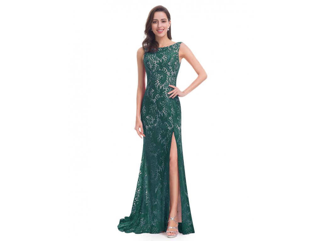 765e8469810 Elegantní krajkové Ever Pretty šaty zelené 8859 - trendy-obleceni.cz