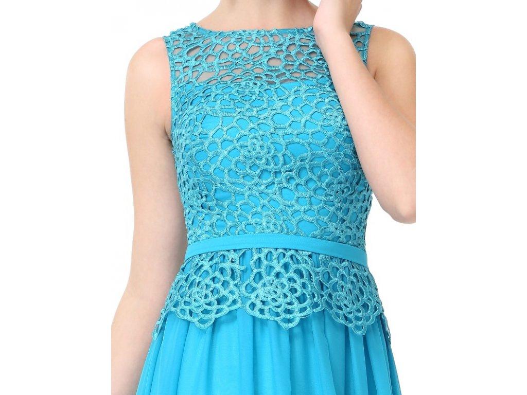Ever Pretty plesové šaty s krajkou tyrkysové 8904 - trendy-obleceni.cz 858e8967d0d