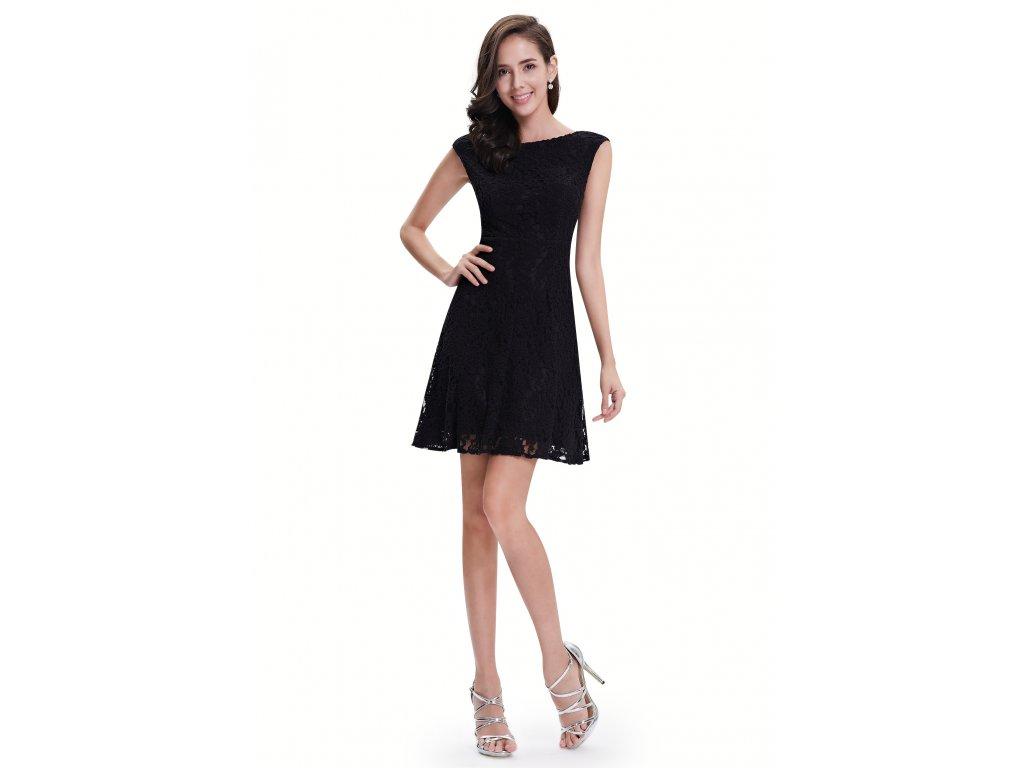 e6efaa00a22f Ever Pretty šaty černé krajkové 5331 - trendy-obleceni.cz