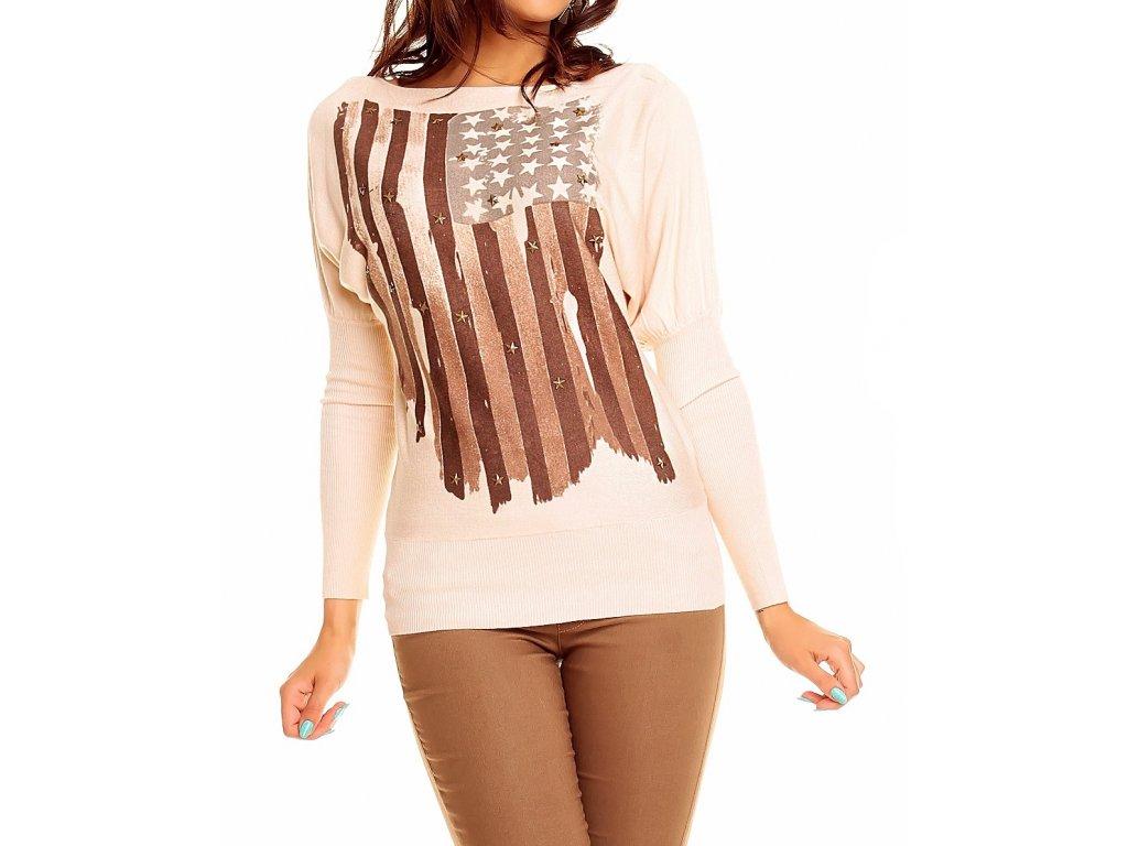 A Dámský pulover s vlajkou HS383