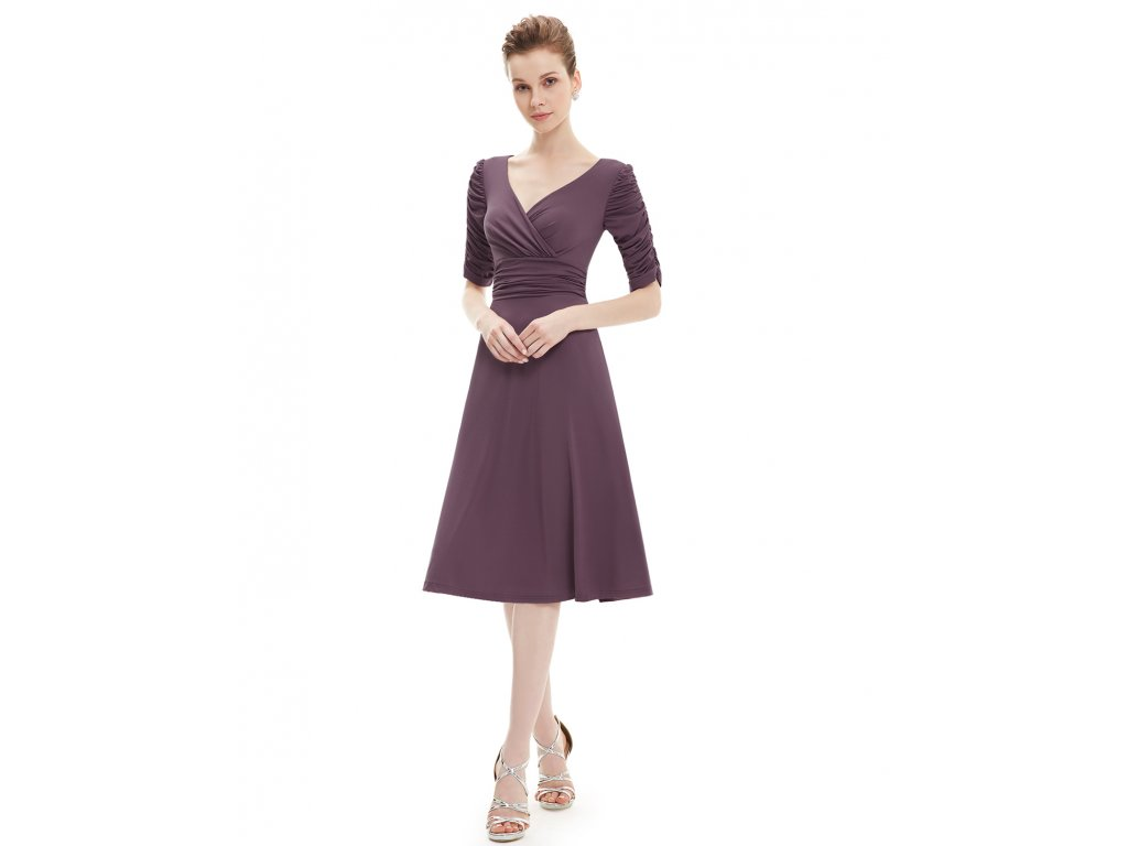 Fialové krátké šaty 3632