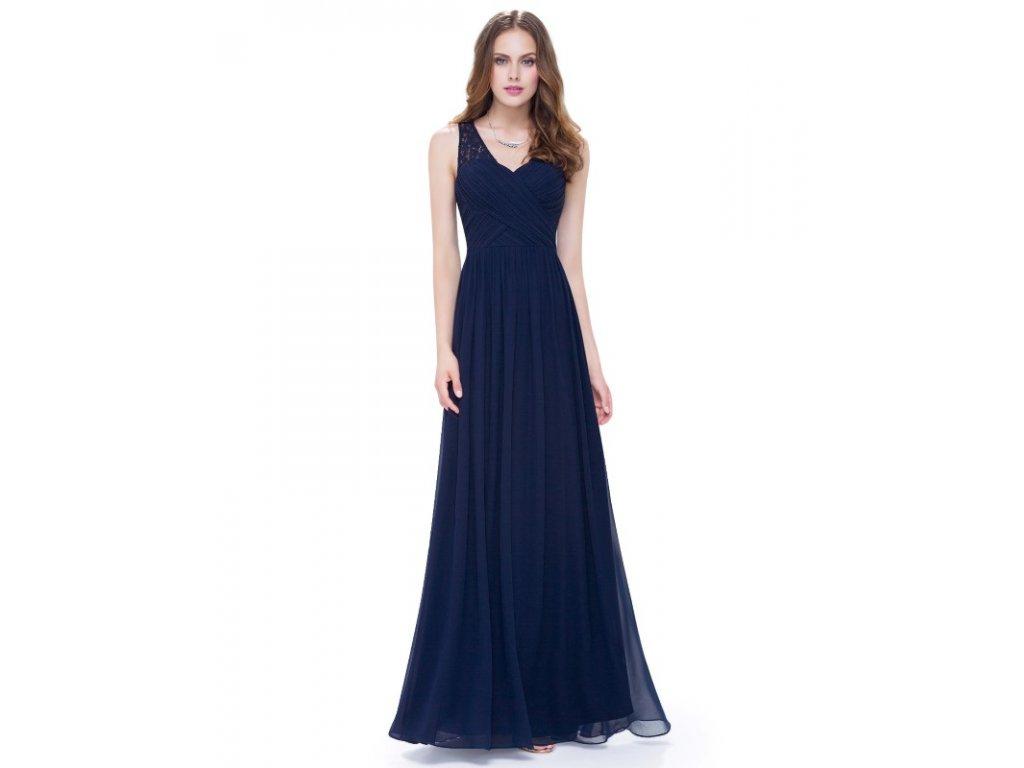 Plesové šaty společenské modré 8871