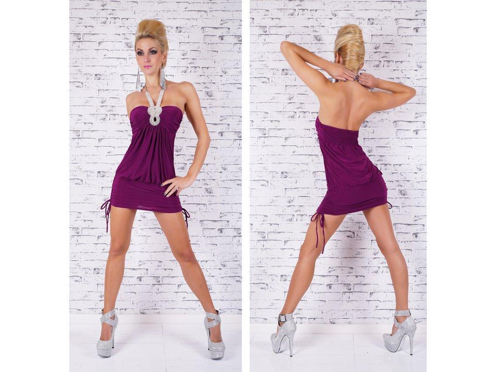 b20f5429743 A Sexy fialové šaty ST115 - trendy-obleceni.cz