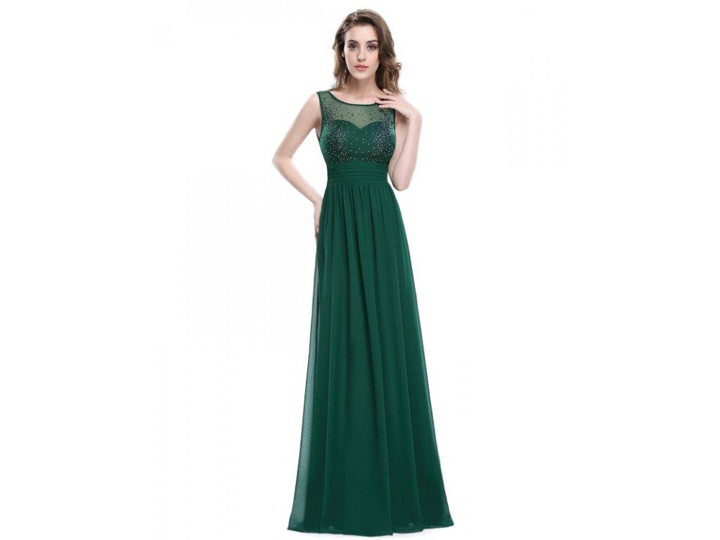 Ever Pretty plesové šaty elegantní zelené  8784
