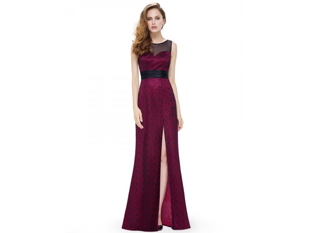 Ever Pretty plesové šaty vínové 8950
