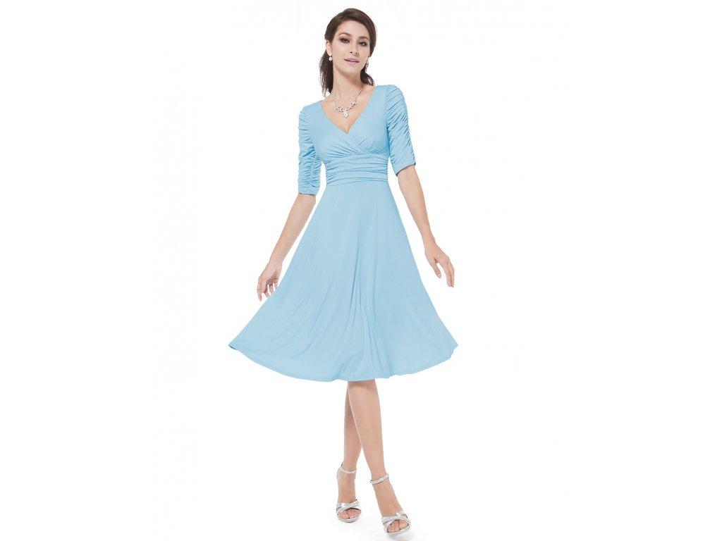 Světle modré krátké šaty Ever Pretty 3632 - trendy-obleceni.cz 3bf93304a3
