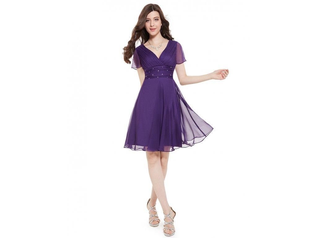 Ever Pretty letní šaty krátké fialové 3882 ff38772dca