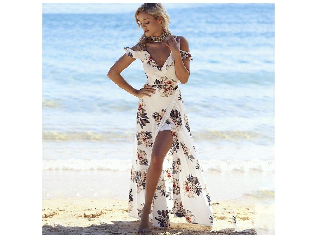 A Luxusní dlouhé letní šaty 3951-0 - trendy-obleceni.cz c80502654b