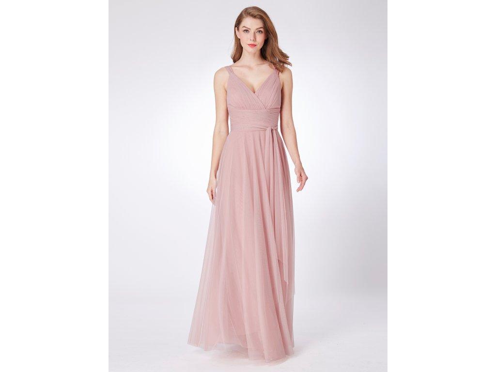 Dlouhé světle růžové šaty